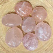 Rose Quartz Palm Stone Set