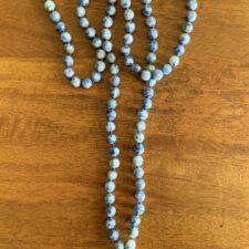 Sodalite Crystal 108 Bead Mala