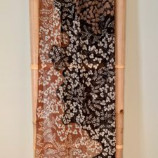 One of kind silk chiffon batik scarf
