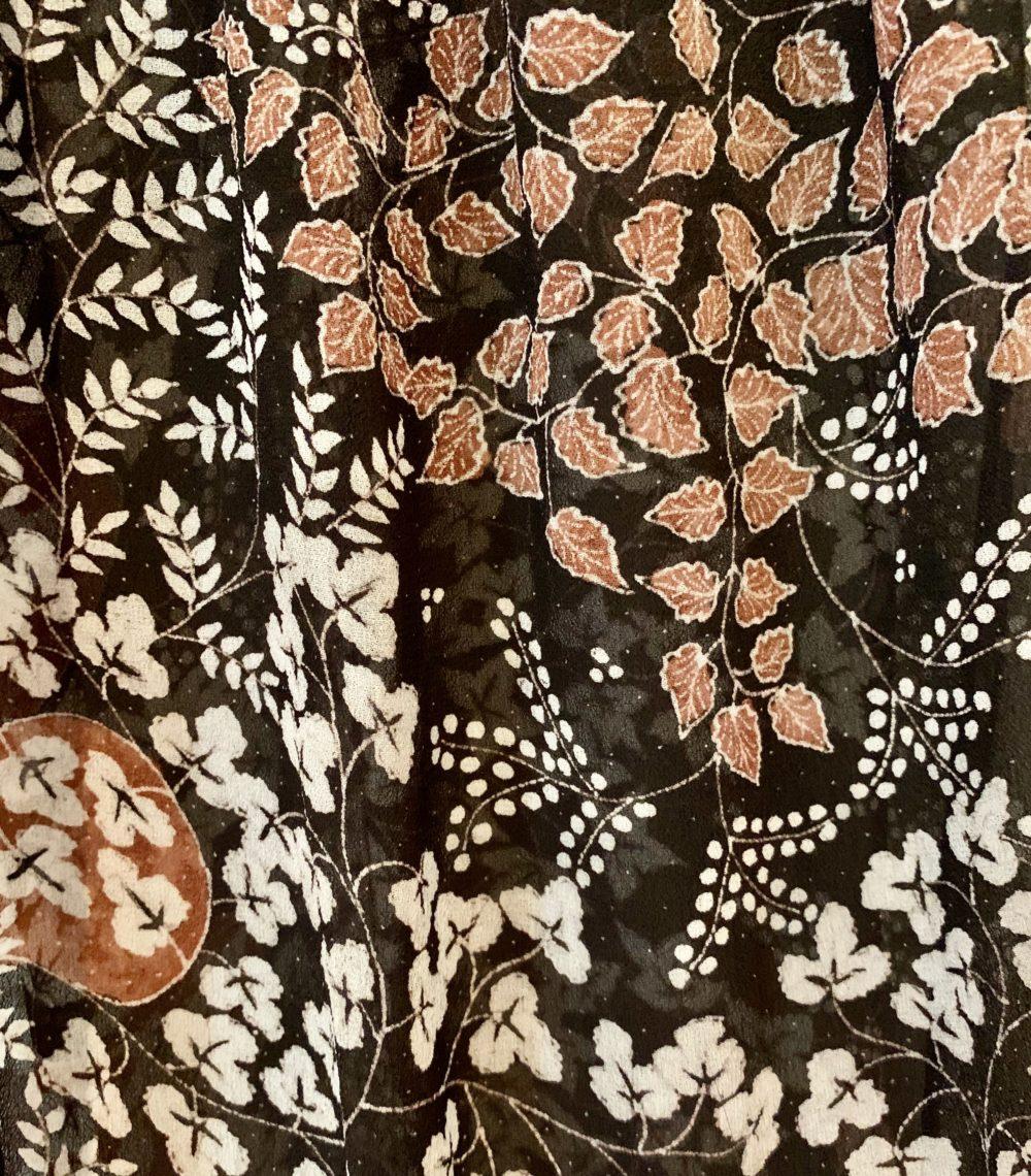 detail of batik scarf