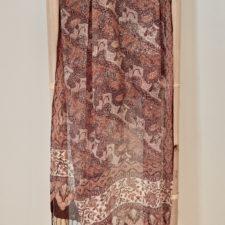 Silk chiffon batik scarf