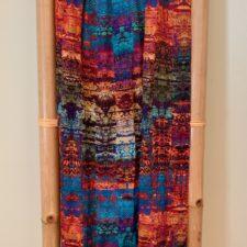 Jewel tones Cupro Satin scarf