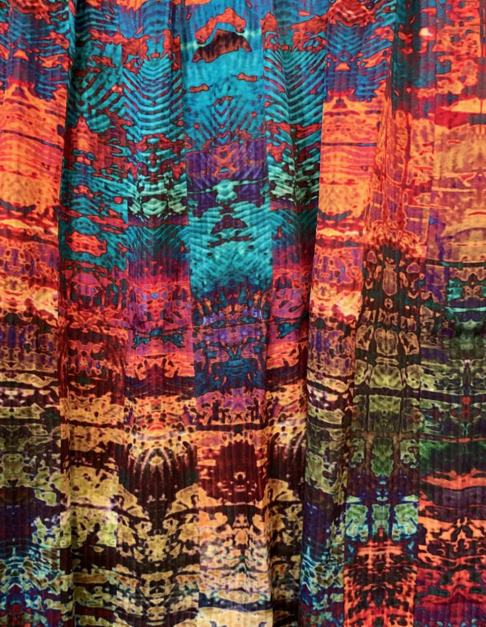 detail of cupro satin scarf