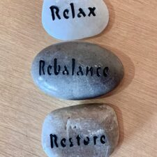Relax, Rebalance, Restore Haiku Mantra Stone Set