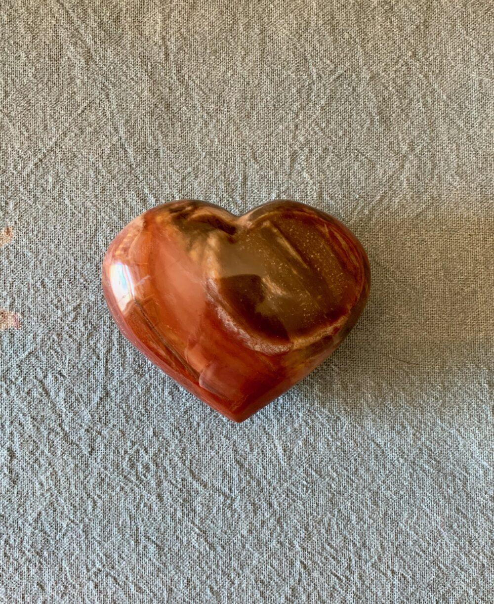 pertified wood heart