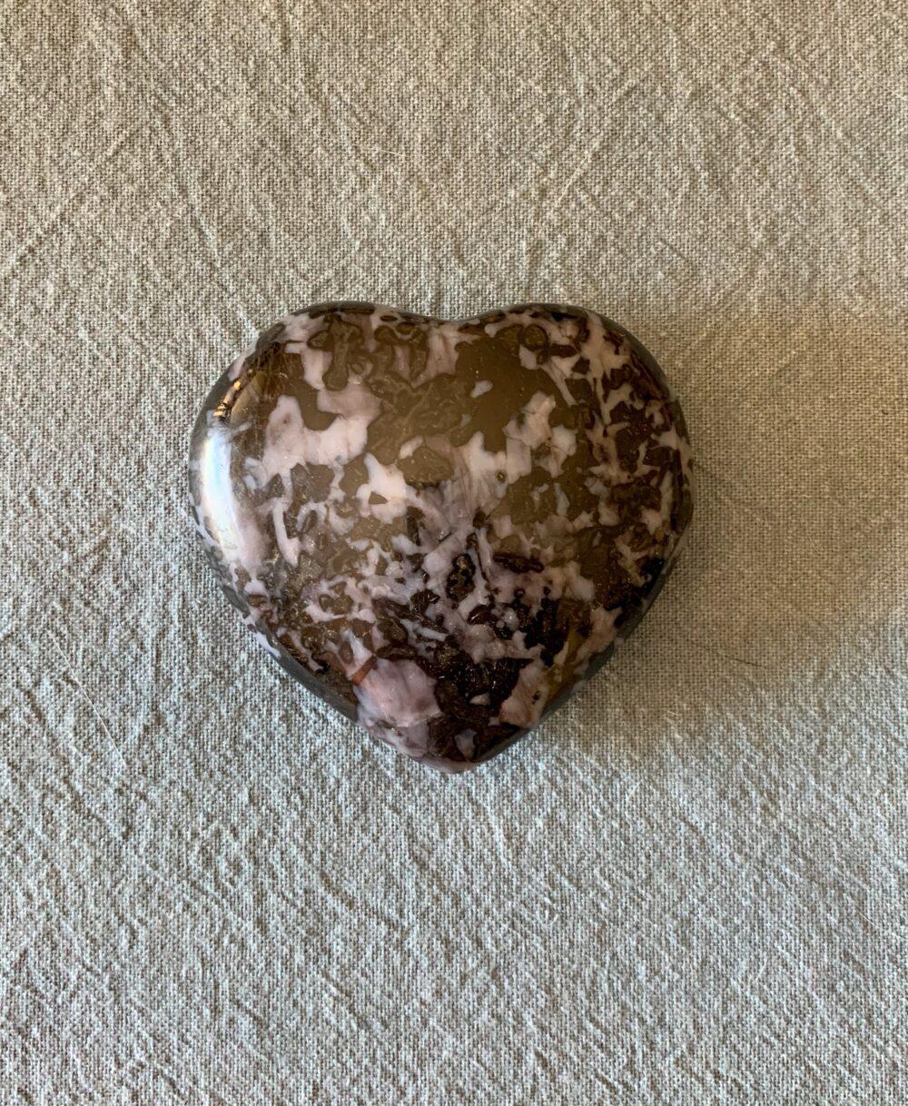 Indigo Gabbro (Mystic Merlinite) crystall Heart