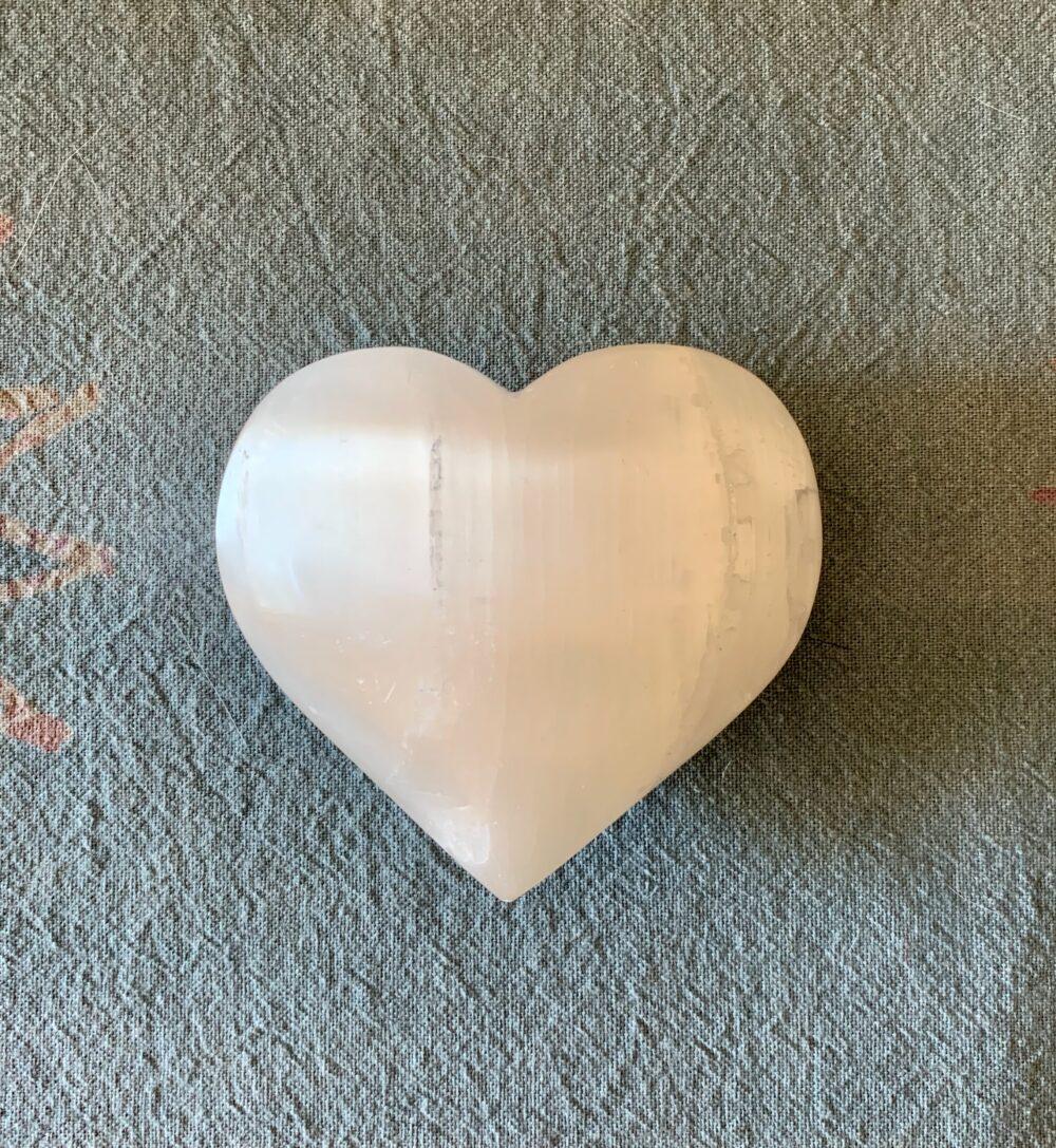 Selenite Crystal Heart
