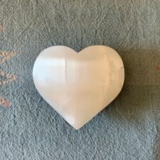 Selenite Crystal Heart