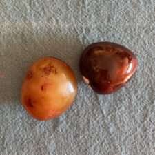 Carnelian Crystal Palm Stone Set