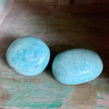 Amazonite Crystal Palm Stone Set