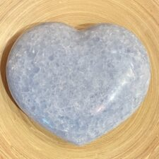 Extra Large Blue Calcite Crystal Heart