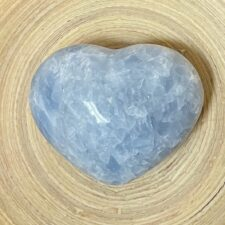 Blue Calcite Crystal Heart