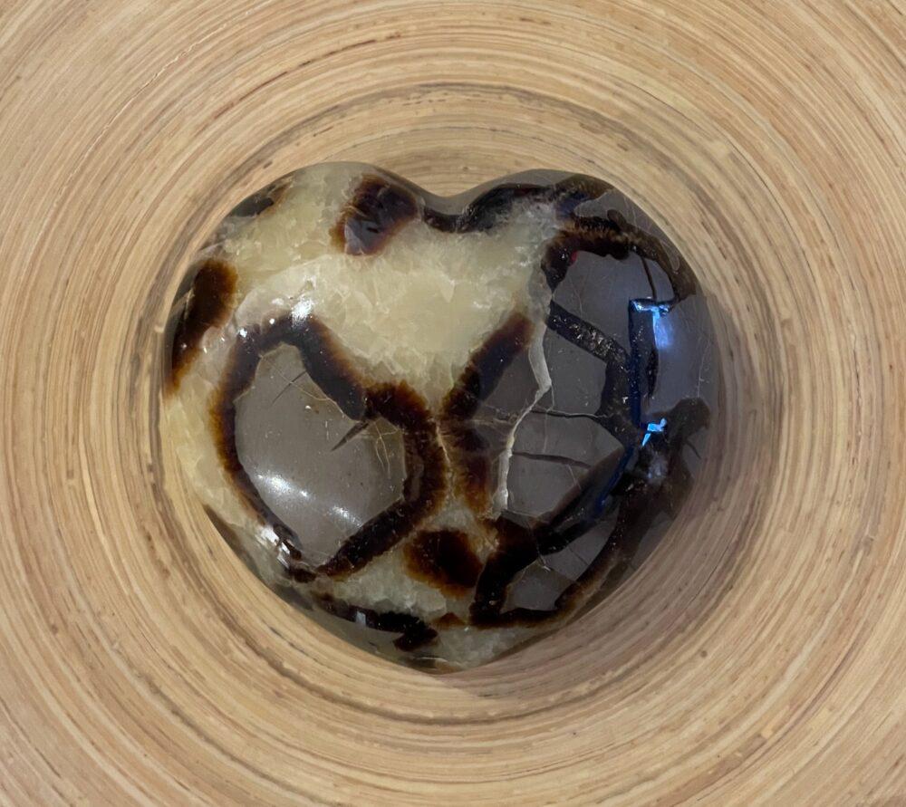Septarian Crystal Heart