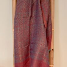 Fine Wool Metallic Thread Scarf