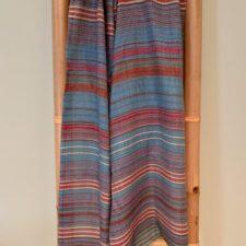 Blue Multi Stripe Cashmere Scarf