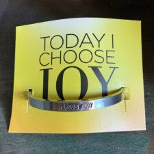 """Choose Joy""Quotable Bracelet"