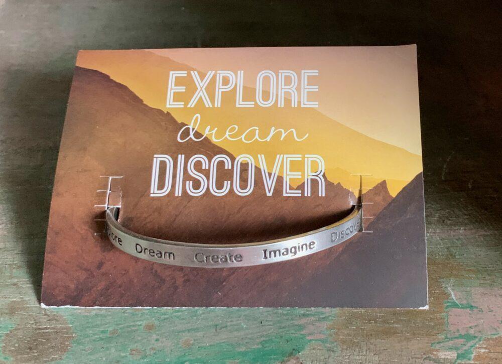 """""""Explore, Dream, Discover"""" Quotable Bracelet"""