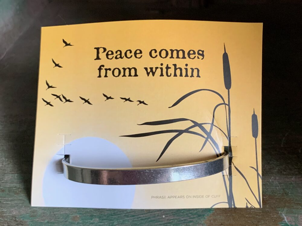 """Peace Comes From Within"" Quotable Bracelet"