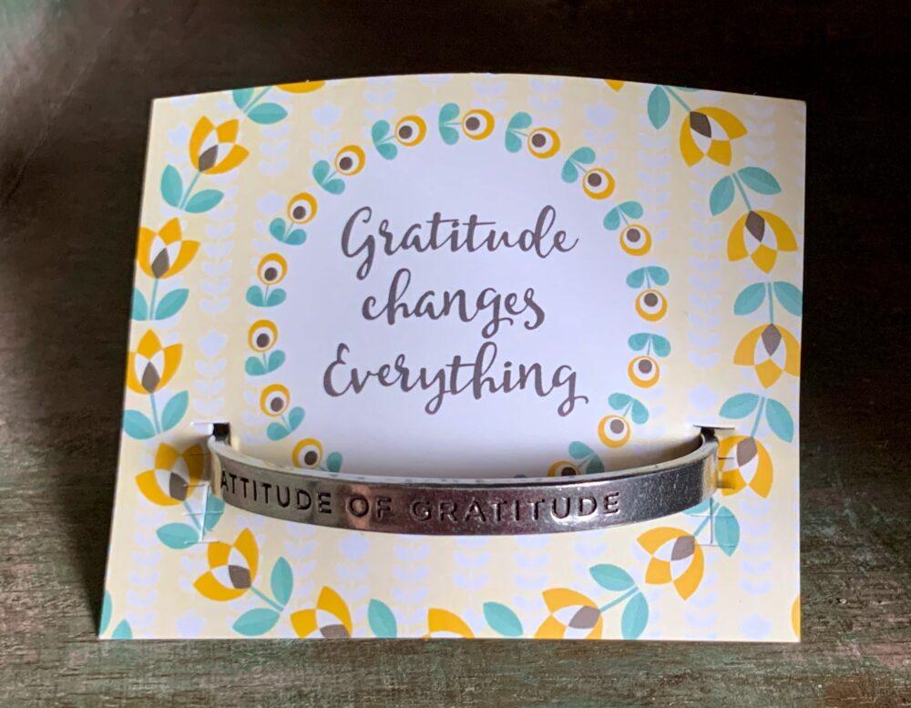"""Attitude Of Gratitude"" Quotable Bracelet"