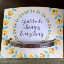 """Attitude Of Gratitude"" Quotable Bracelet"