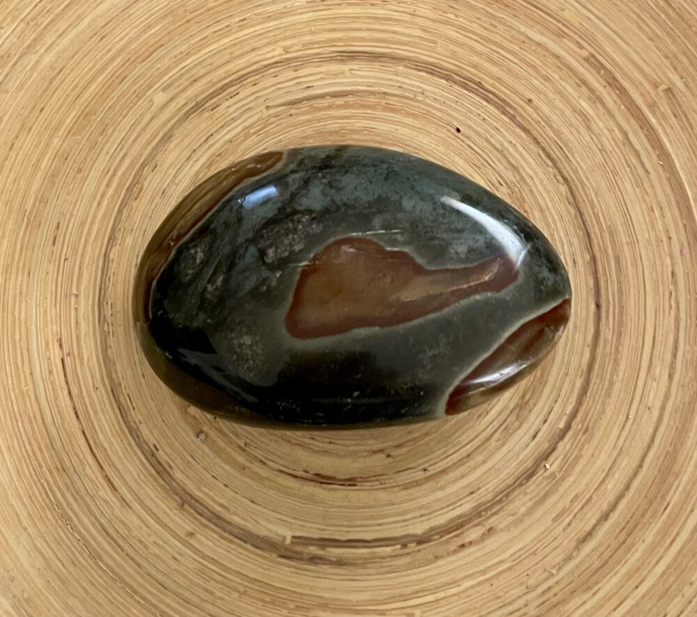 Xtra Large Polychrome Jasper Crystal Palm Stone